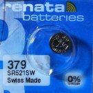 1-Renata 379 Battery SR521SW Silver Oxide.