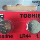 LR44 Toshiba Battery AG13 2 Qt. Ships from USA, Alkaline A76 0%Hg,