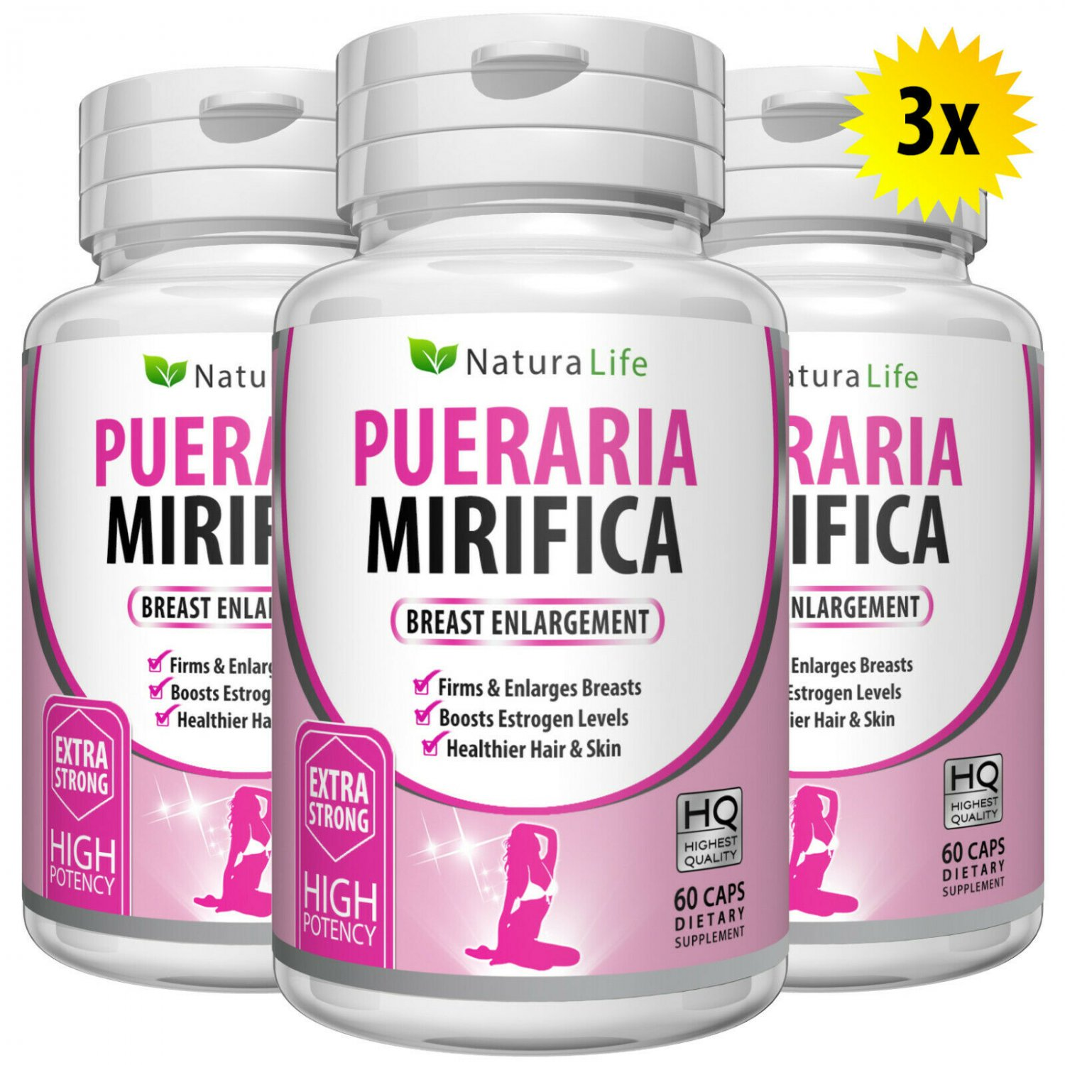 180 PURE PUERARIA MIRIFICA BREAST GROWTH CAPSULES BUST ENLARGEMENT PILLS 5000mg CTR
