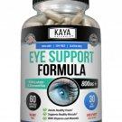 Eye Health 60 Capsules, Lutein and Zeaxanthin, Vision Health, Eye Strain Support