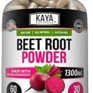 (2 Bottle Pack) Organic Beet Root Powder 1300mg Per Serving,