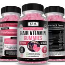 (2 Pack) Hair Skin Nails Gummies for Stronger, Faster and More Beautiful Hair