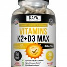 (2 Bottles) Vitamin K2 (MK7) D3 5000 IU Supplement, BioPerine Capsules, Immune