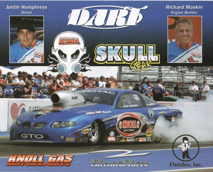 2007 NHRA PS Handout Justin Humphreys (Skull Gear)