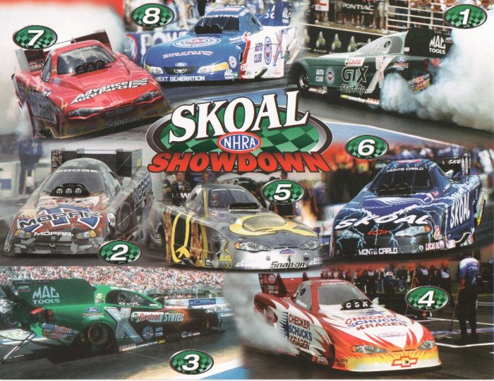 2005 NHRA FC Handout Skoal Funny Car Showdown