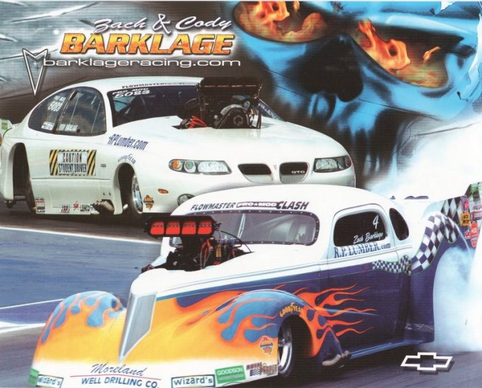 2005 NHRA PM Handout Zack & Cody Barklage