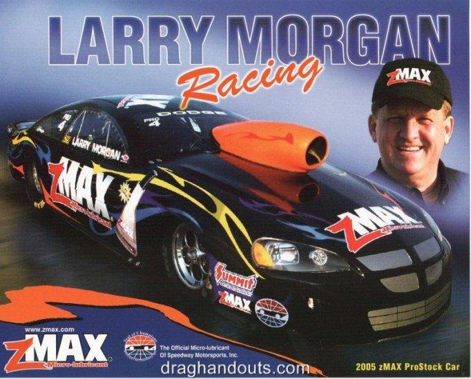 2005 NHRA PS Handout Larry Morgan