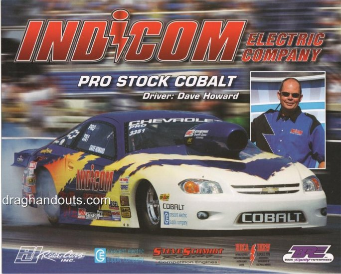 2005 NHRA PS Handout Dave Howard