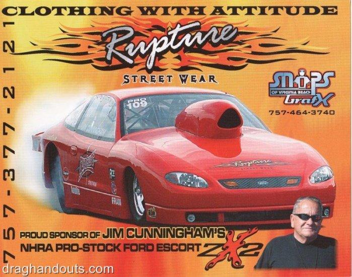 2005 NHRA PS Handout Jim Cunningham