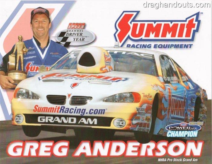 2005 NHRA PS Handout Greg Anderson (version #3)