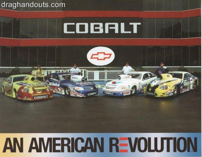 2005 NHRA PS Handout Chevy Cobalt (version #1)