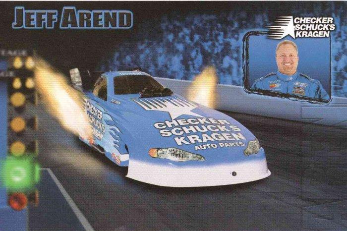 2007 NHRA FC Handout Jeff Arend (Checker Shucks & Kragen)