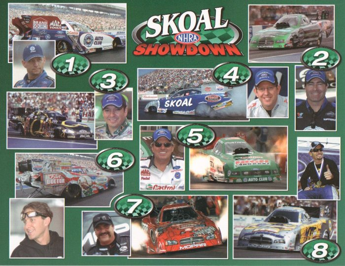 2007 NHRA Handout Skoal Funny Car Showdown