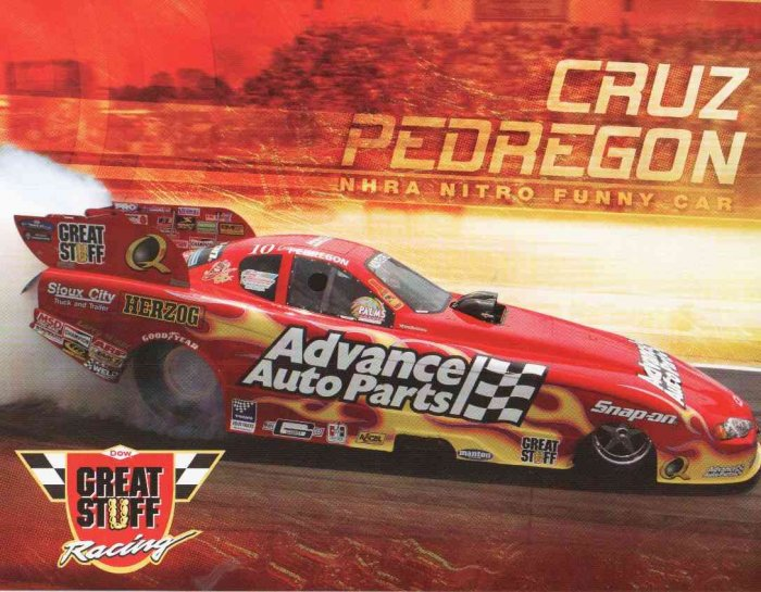 2007 NHRA FC Handout Cruz Pedregon (Great Stuff)