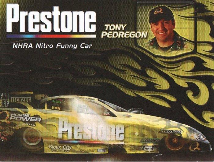 2007 NHRA FC handout Tony Pedregon (Prestone)