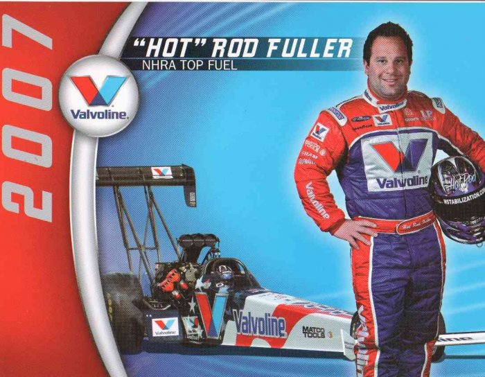 2007 NHRA TF Handout Hot Rod Fuller (Valvoline-version # 1)