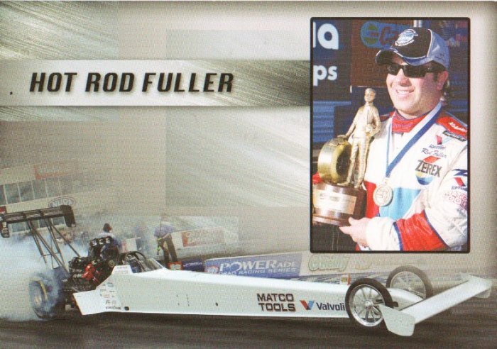 2007 NHRA TF Handout Hot Rod Fuller (White Shark #2 burnout)
