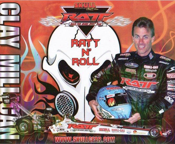 2007 NHRA TF Handout Clay Millican Ratt n' Roll  (version #2)