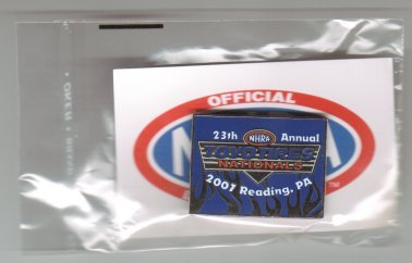 2007 NHRA Event Pin Reading