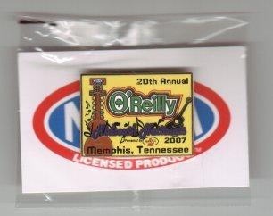 2007 NHRA Event Pin Memphis