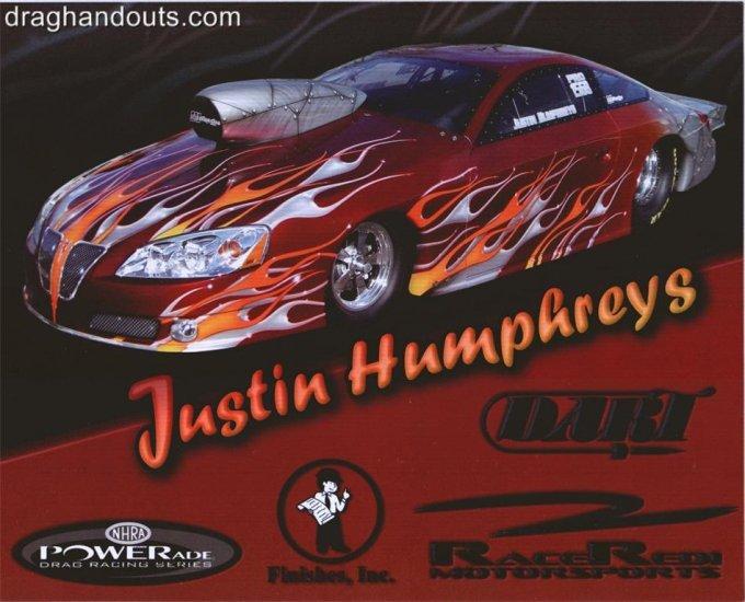 2008 NHRA PS Handout Justin Humphreys (version #2)