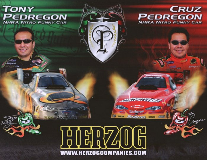 2006 NHRA FC Handout Tony & Cruz Pedregon Herzog