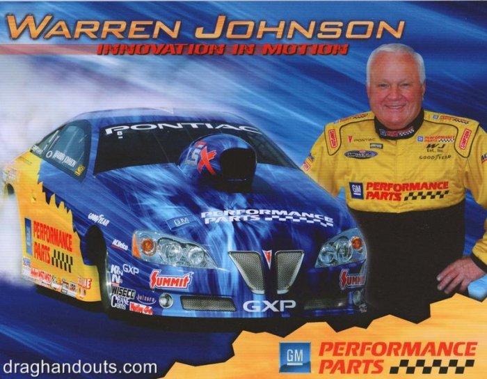 2008 NHRA PS Handout Warren Johnson