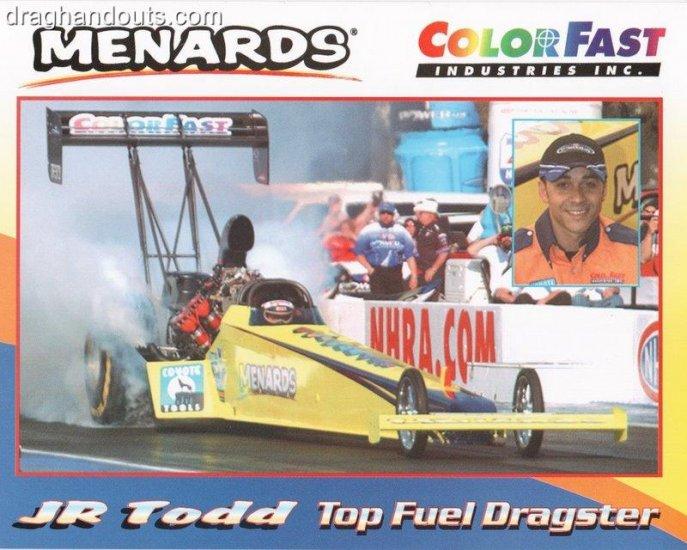 2006 NHRA TF Handout JR Todd (version #1)