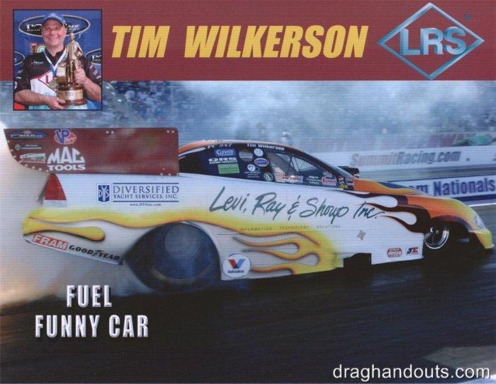 2008 NHRA FC Handout Tim Wilkerson (version #1)