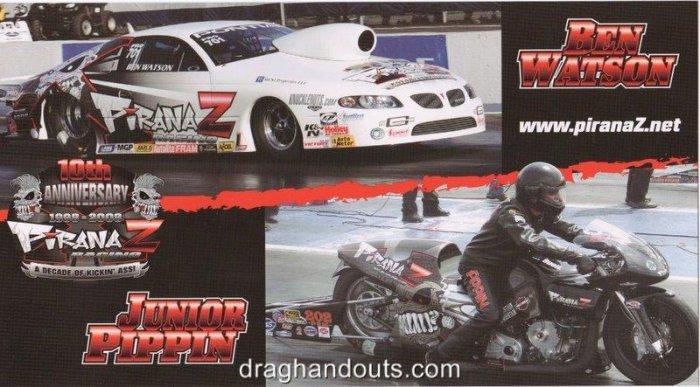2008 NHRA PSB Handout Junior Pippin (version #2)