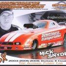 2008 NHRA AFC Handout Mick Snyder