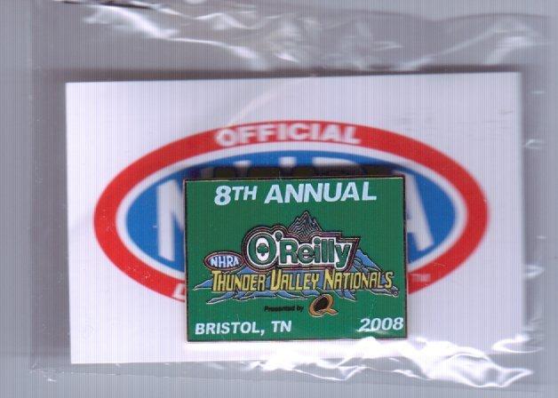 2008 NHRA Event Pin Bristol