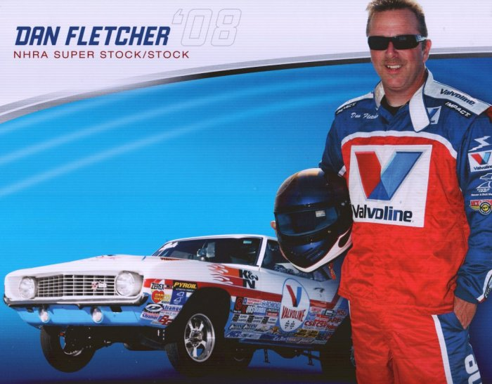2008 NHRA Sportsman Handout Dan Fletcher