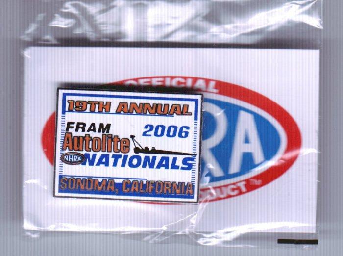 2006 NHRA Event Pin Sonoma