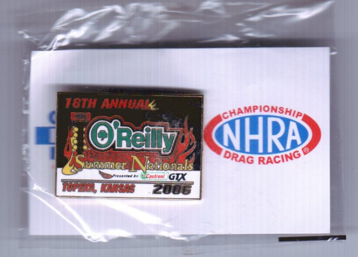 2006 NHRA Event Pin Topeka
