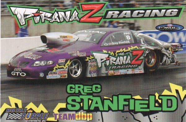 2007 NHRA PS Handout Greg Stanfield (version # 2) Postcard