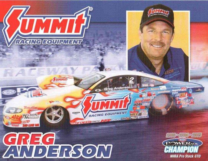 2007 NHRA PS Handout Greg Anderson (version #1)