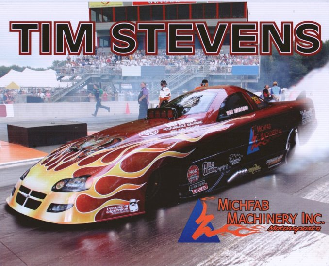 2008 NHRA AFC Handout Tim Stevens