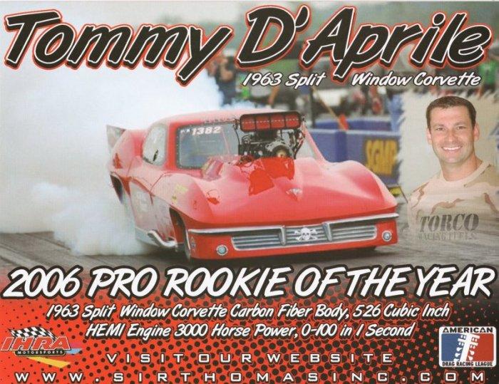 2007 NHRA PM Handout Tommy D'Aprile