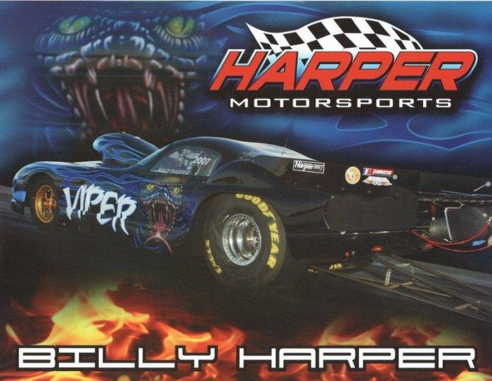 2007 NHRA PM Handout Billy Harper