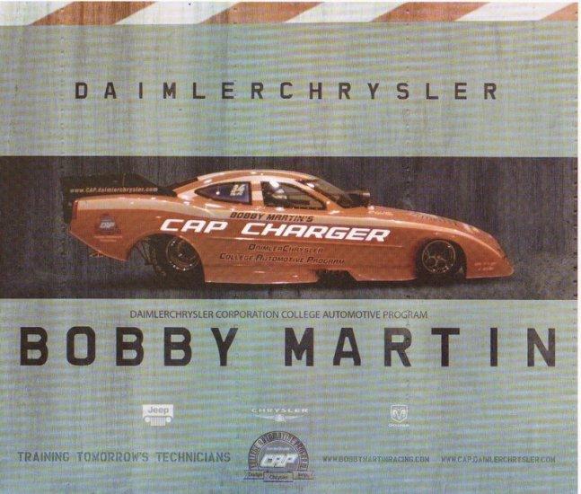 2007 NHRA AFC Handout Bobby Martin (version # 1)