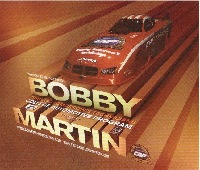2007 NHRA AFC Handout Bobby Martin (version # 2)