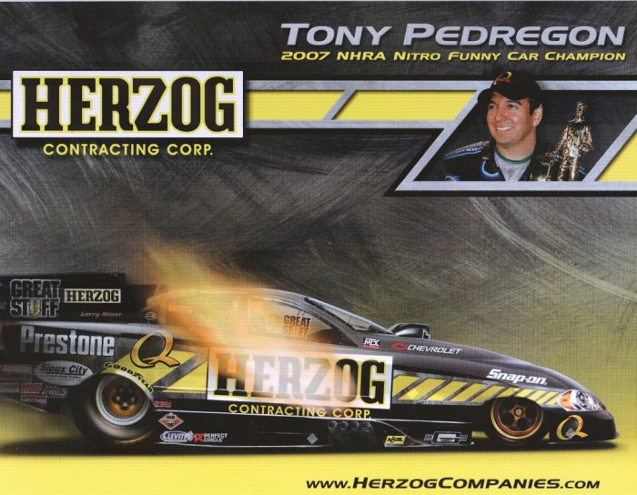 2008 NHRA FC Handout Tony Pedregon (version #4) Herzog