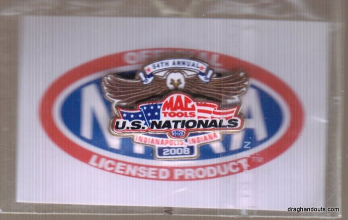 2008 NHRA Event Pin Indy (version #2)