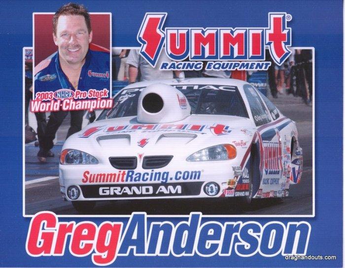 2004 NHRA PS Handout Greg Anderson (version #3)