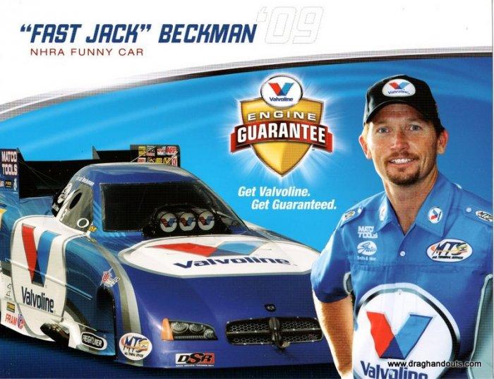 2009 FC Handout Jack Beckman Valvoline (version #3)