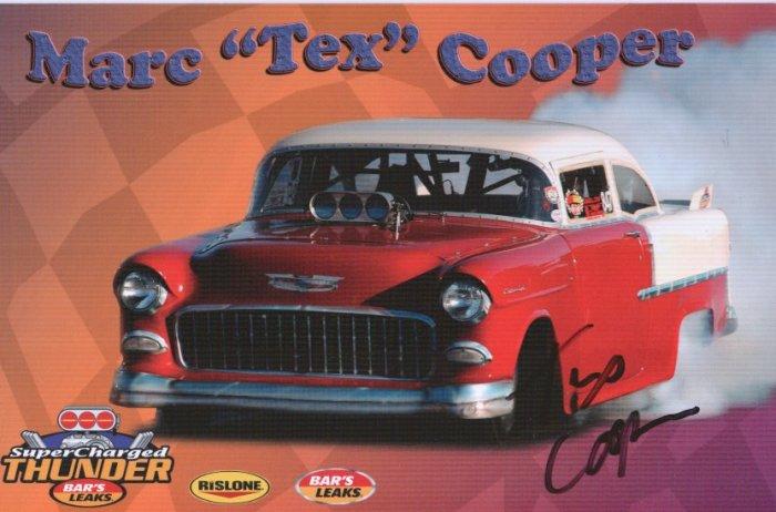 """2006 SCT Handout Marc """"Tex"""" Cooper Autographed"""