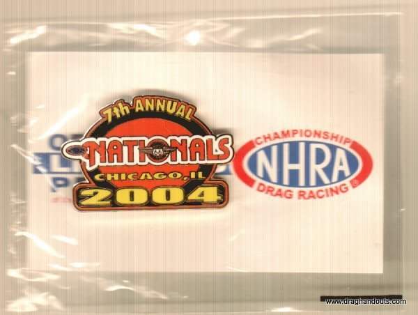 2004 NHRA Event Pin Chicago 1