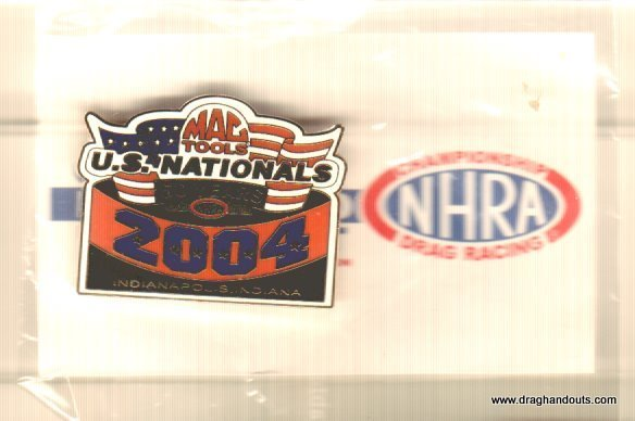 2004 NHRA Event Pin Indianapolis (version #1) Free Shipping
