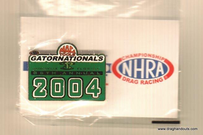 2004 NHRA Event Pin Gainesville (version #1)
